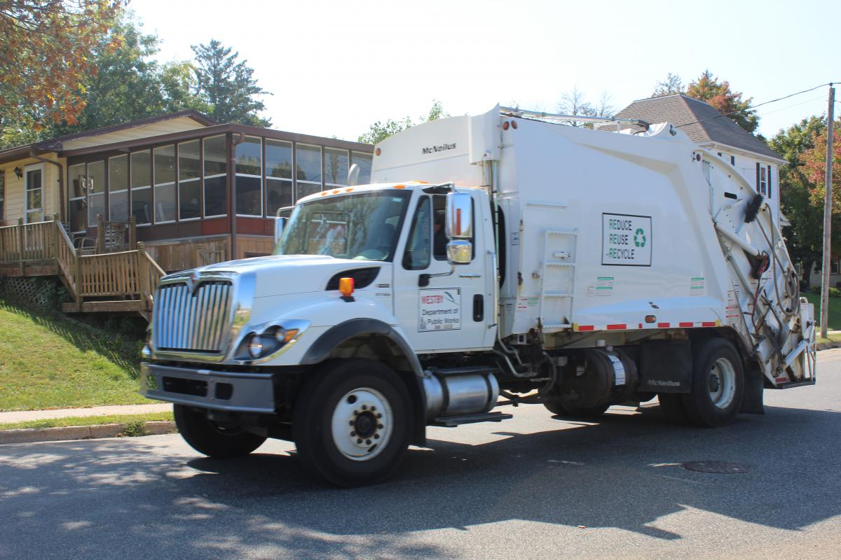 Garbage And Recycling City Of Westby Truck